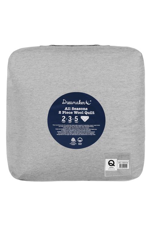 Dreamaker All Season 2 Piece Australian Wool Quilt
