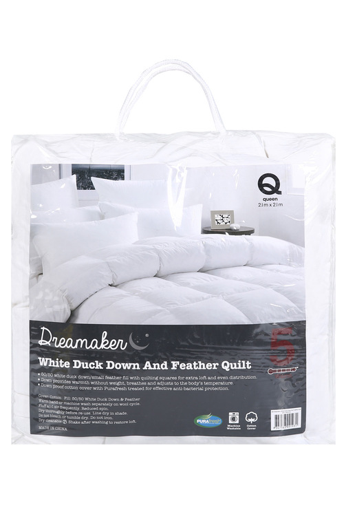 Dreamaker 50/50 White Duck Down & Feather Winterweight Quilt