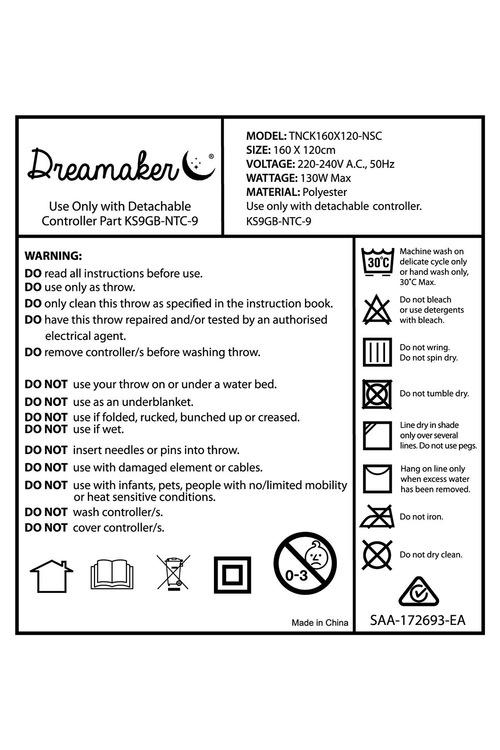 Dreamaker Coral Fleece Electric Heated Throw Blanket