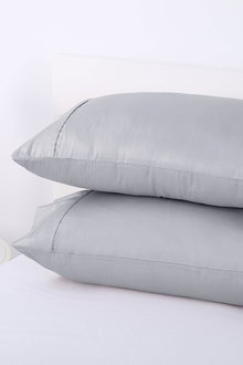 Dreamaker Cotton Sateen 300Tc Plain Dyed Pillowcases - Twin Pack - 292810