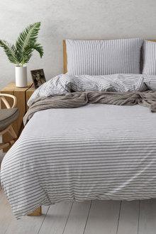Dreamaker Cotton Jersey Quilt Cover Set Durham - 292841