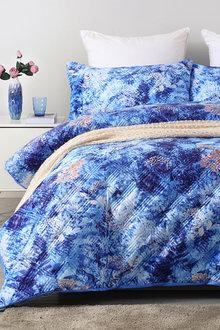 Dreamaker Velvet Digital Printing Pinsonic Quilted Quilt Cover Set - 292843