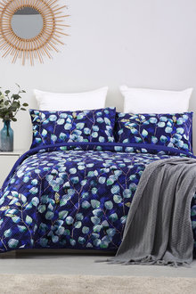 Dreamaker Velvet Digital Printing Pinsonic Quilted Quilt Cover Set Pagan - 292846