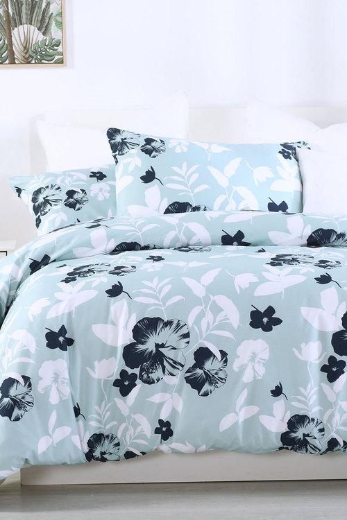 Dreamaker Printed Quilt Cover Set Whisper