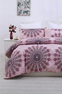Dreamaker Printed Quilt Cover Set Desert Flower - 292857