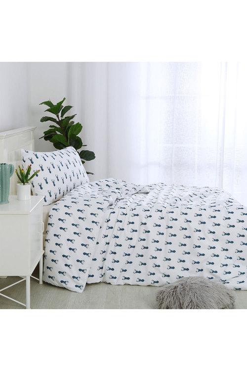 Dreamaker Printed Quilt Cover Set Little Deer