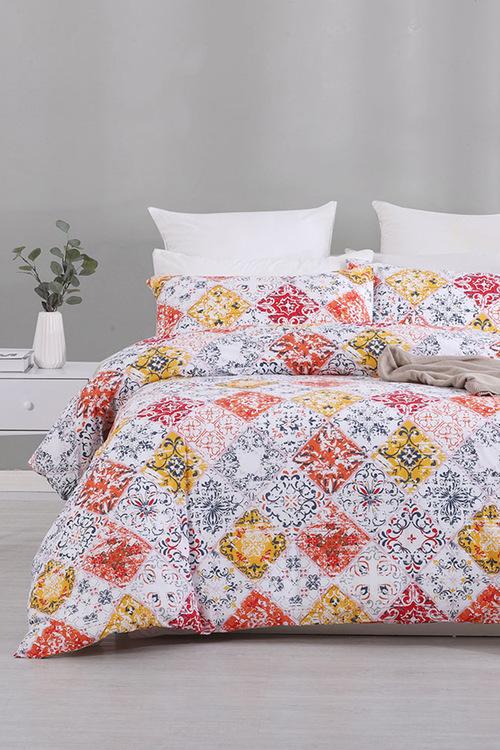 Dreamaker Cotton Blend Duvet Doona Quilt Cover Set Mota