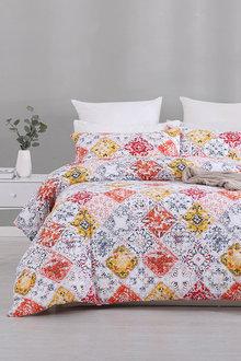 Dreamaker Cotton Blend Duvet Doona Quilt Cover Set Mota - 292864