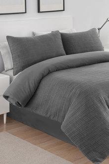Dreamaker Premium Hazel Quilted Sandwashed Quilt Cover Set - 292872