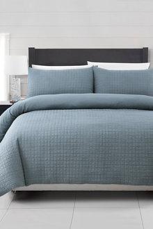 Dreamaker Premium Morgan Quilted Sandwashed Quilt Cover Set - 292876