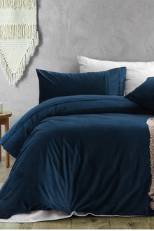 Dreamaker Ripple Velvet Quilt Cover Set - 292881