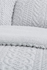 Dreamaker Tedding Fleece Pinsonic Quilted Quilt Cover Set