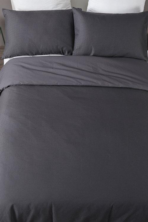 Dreamaker Cotton Waffle Quilt Cover Set