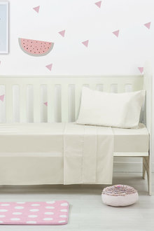 Dreamaker Baby 250 Tc Egyptian Cotton Cot Sheet Set - 292954