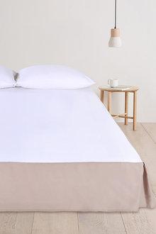 Dreamaker Plain Dyed Cotton Pleated Valance - 292969