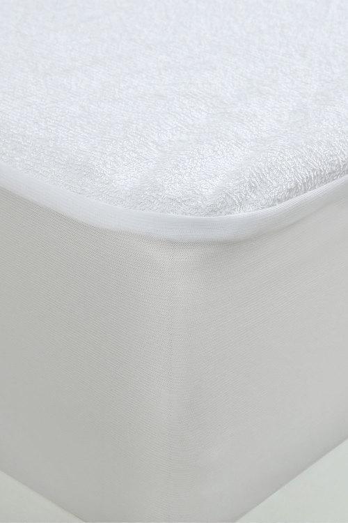 Dreamaker Cotton Terry Towelling Waterproof Mattress Protector - Long