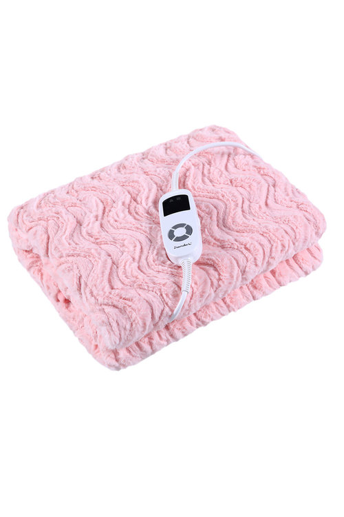 Dreamaker Faux Fur Heated Throw 120X160Cm Pink