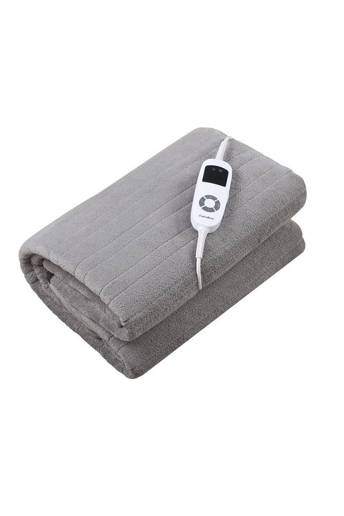 Dreamaker Reversible Heated Throw Blanket Two Tone (Charcoal/Silver)-
