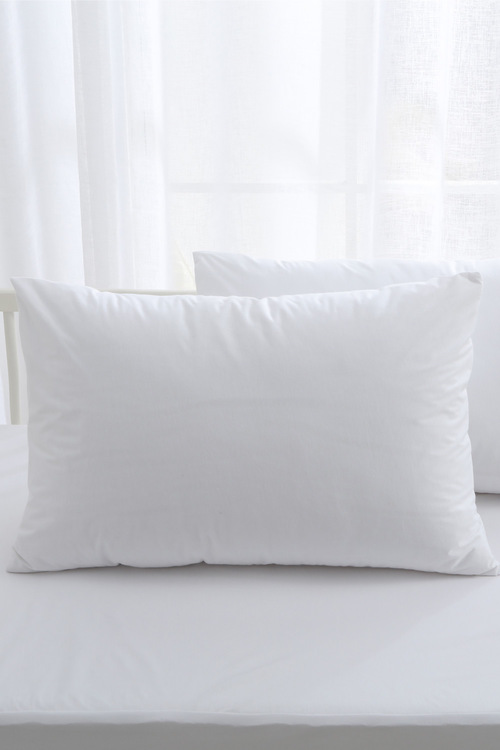 Dreamaker Bamboo Cotton Jersey Cot Waterproof Pillow Protector White 2
