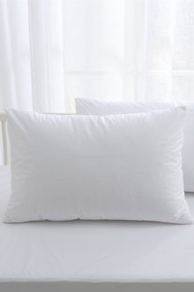 Dreamaker Bamboo Cotton Jersey Cot Waterproof Pillow Protector White 2 - 293050