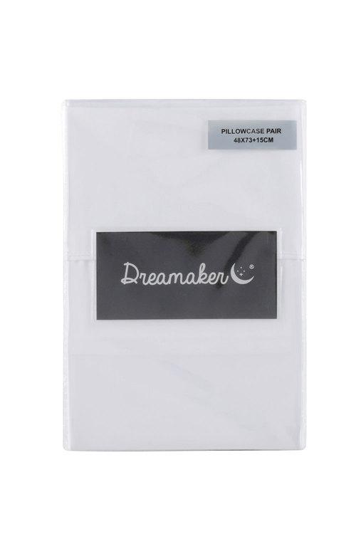 Dreamaker 1000Tc Cotton Sateen Standard Pillowcase Twin Pack