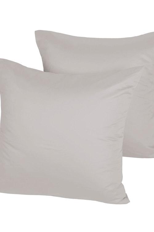 Dreamaker 1000Tc Cotton Sateen Euro Pillowcase Twin Pack