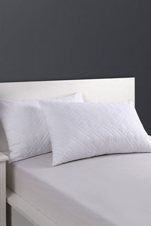 Dreamaker Super Plush Quilted Pillow Protector - 48 X 73Cm (2 Pack) - 293080
