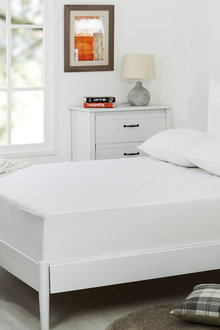 Dreamaker Quilted Cotton Cover Mattress Protector - Long Single Bed - 293084