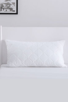 Dreamaker Cotton Cover Quilted Pillow Protector - King Pillow Size - 293086