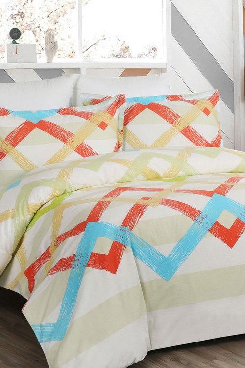 Dreamaker 250Tc Cotton Sateen Printed Quilt Cover Set Plastel - Queen