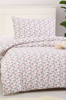Dreamaker Printed Quilt Cover Set Burst Of Flowers - Single Bed
