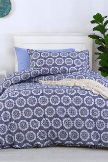 Dreamaker Printed Quilt Cover Set King Mandala - Single Bed - 293107