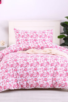 Dreamaker Printed Quilt Cover Set Essential Roses - Single Bed - 293108