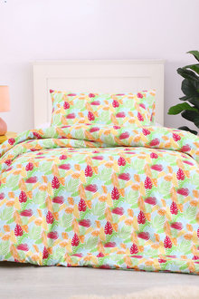 Dreamaker Printed Quilt Cover Set Tropica - Single Bed - 293109