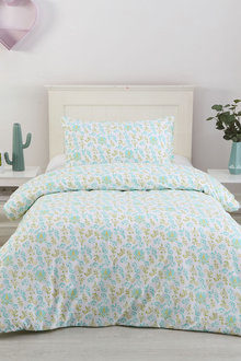 Dreamaker Printed Quilt Cover Set Soft Paisley - Single Bed - 293110