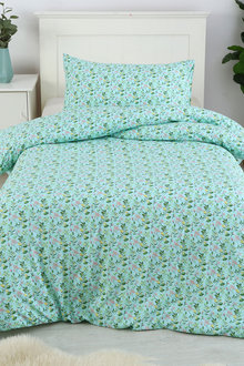 Dreamaker Printed Quilt Cover Set Blooming Garden - Single Bed - 293112
