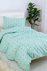 Dreamaker Printed Quilt Cover Set Blooming Garden - Single Bed