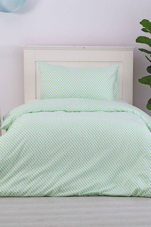 Dreamaker Printed Quilt Cover Set Cacti Queen - Single Bed
