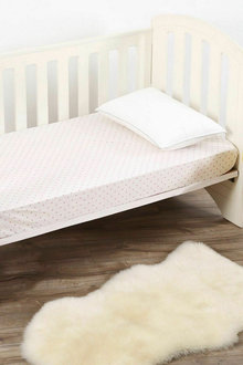 Dreamaker 100% Cotton Luxurious Cot Fitted Sheet  Baby Girls Boys Unisex - 293122