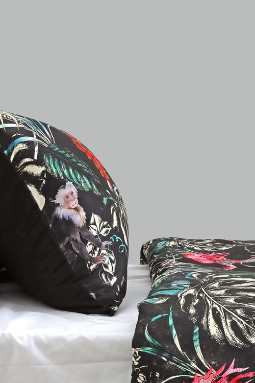 Dreamaker 300Tc Cotton Sateen Printed Standard Pillowcase 2 Pack Dark