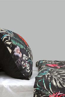 Dreamaker 300Tc Cotton Sateen Printed Standard Pillowcase 2 Pack Dark - 293147