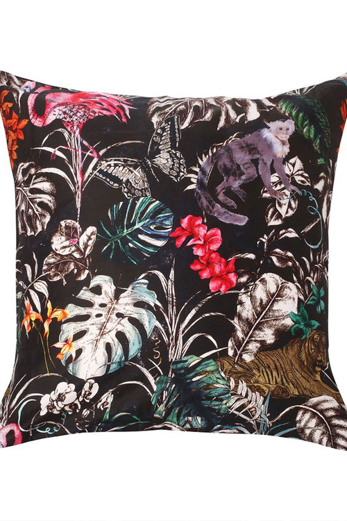 Dreamaker 300Tc Cotton Sateen Printed Euro Pillowcase Dark Jungle