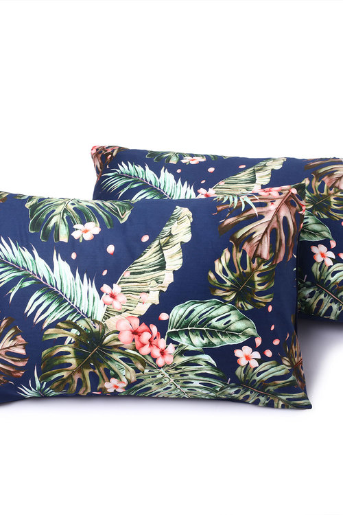 Dreamaker 300Tc Cotton Sateen Printed Standard Pillowcase 2 Pack Orchid