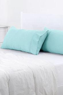 Dreamaker 250Tc Plain Dyed King Size Pillowcases - 293159
