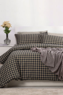 Dreamaker 250Tc Cotton Sateen Printed Quilt Cover Set Oxford - 293168