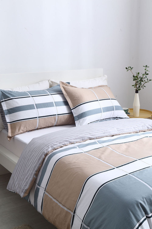 Dreamaker 250Tc Cotton Sateen Printed Quilt Cover Set Brussels
