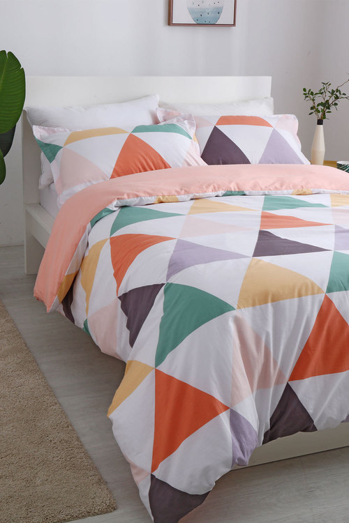 Dreamaker 250Tc Cotton Sateen Printed Quilt Cover Set Amsterdam