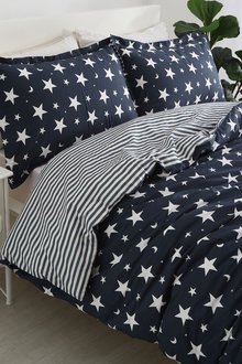 Dreamaker 250Tc Cotton Sateen Printed Quilt Cover Set Starry Night - 293173