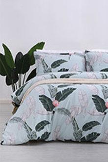 Dreamaker 250Tc Cotton Sateen Printed Quilt Cover Set Coconut - 293174