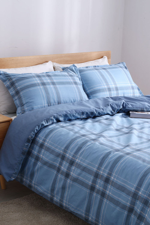 Dreamaker 250Tc Cotton Sateen Printed Quilt Cover Set Finlay